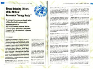 Stress-Reducing Effects of the Medical Resonance Therapy Music